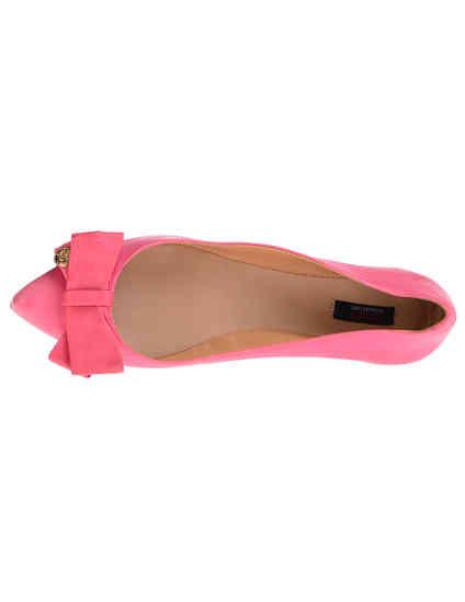 женские розовые кожаные Балетки Schutz 4233-5_pink - фото-5