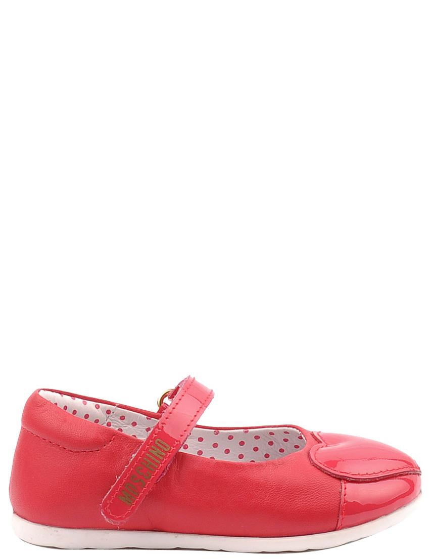 Детские туфли для девочек MOSCHINO 25256-red