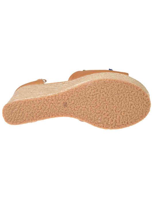 женские бежевые кожаные Босоножки Trussardi Jeans 79A003629Y099999-B170 - фото-5
