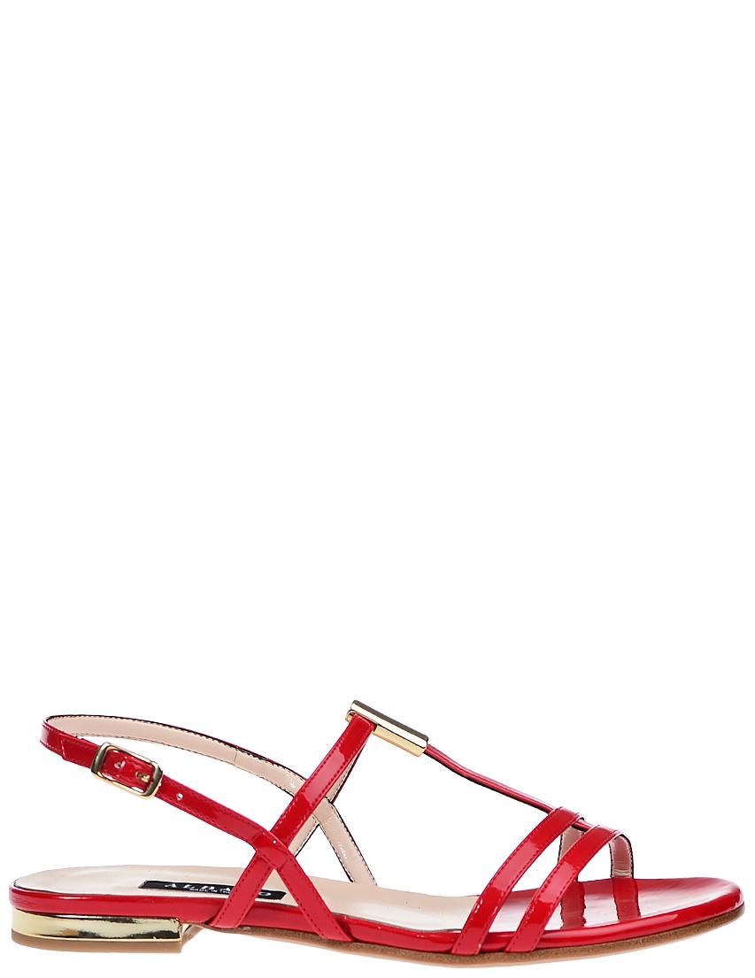 Фото - женские сандали  красного цвета