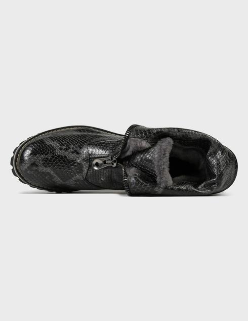 женские серые кожаные Ботинки Pertini 202W15979C3 - фото-5