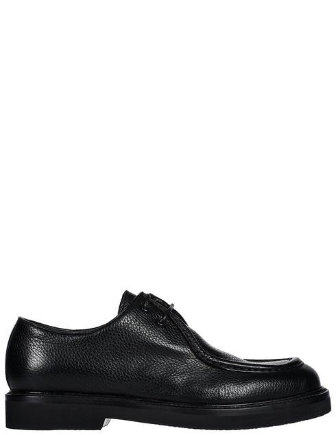 мужские черные кожаные Туфли Brecos 9141-NERO - фото-5