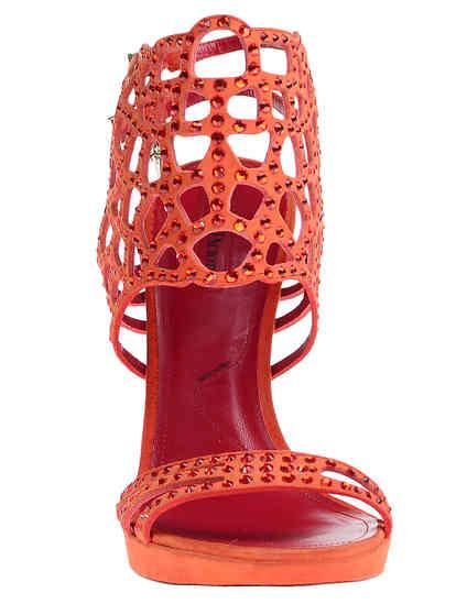 женские оранжевые Босоножки Cesare Paciotti 430610_orange - фото-6
