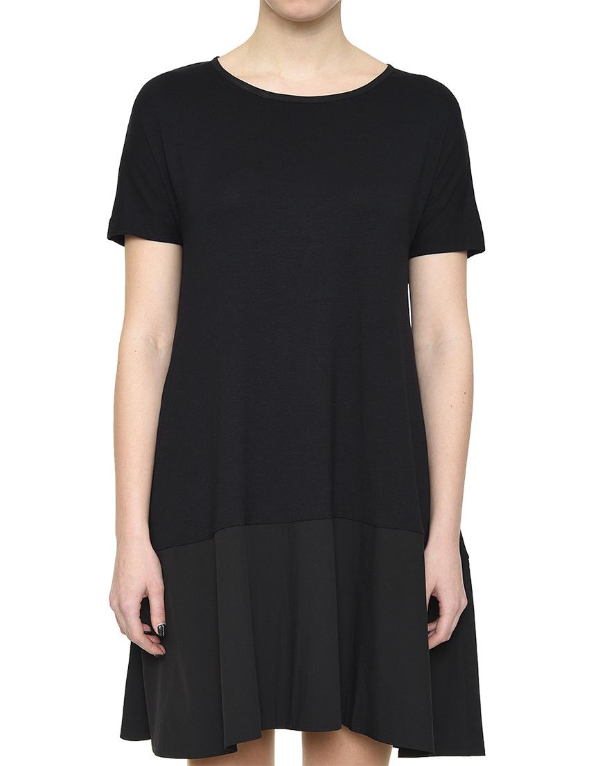 Купить Платье, ROCCO RAGNI, Черный, 97%Хлопок 3%Эластан;90%Вискоза 10%Эластан, Весна-Лето