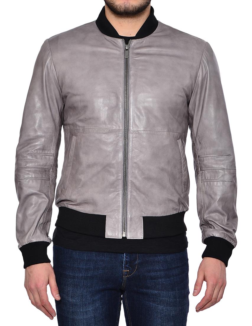 Купить Куртки, Куртка, TRUSSARDI JEANS, Серый, 100%Кожа, Весна-Лето