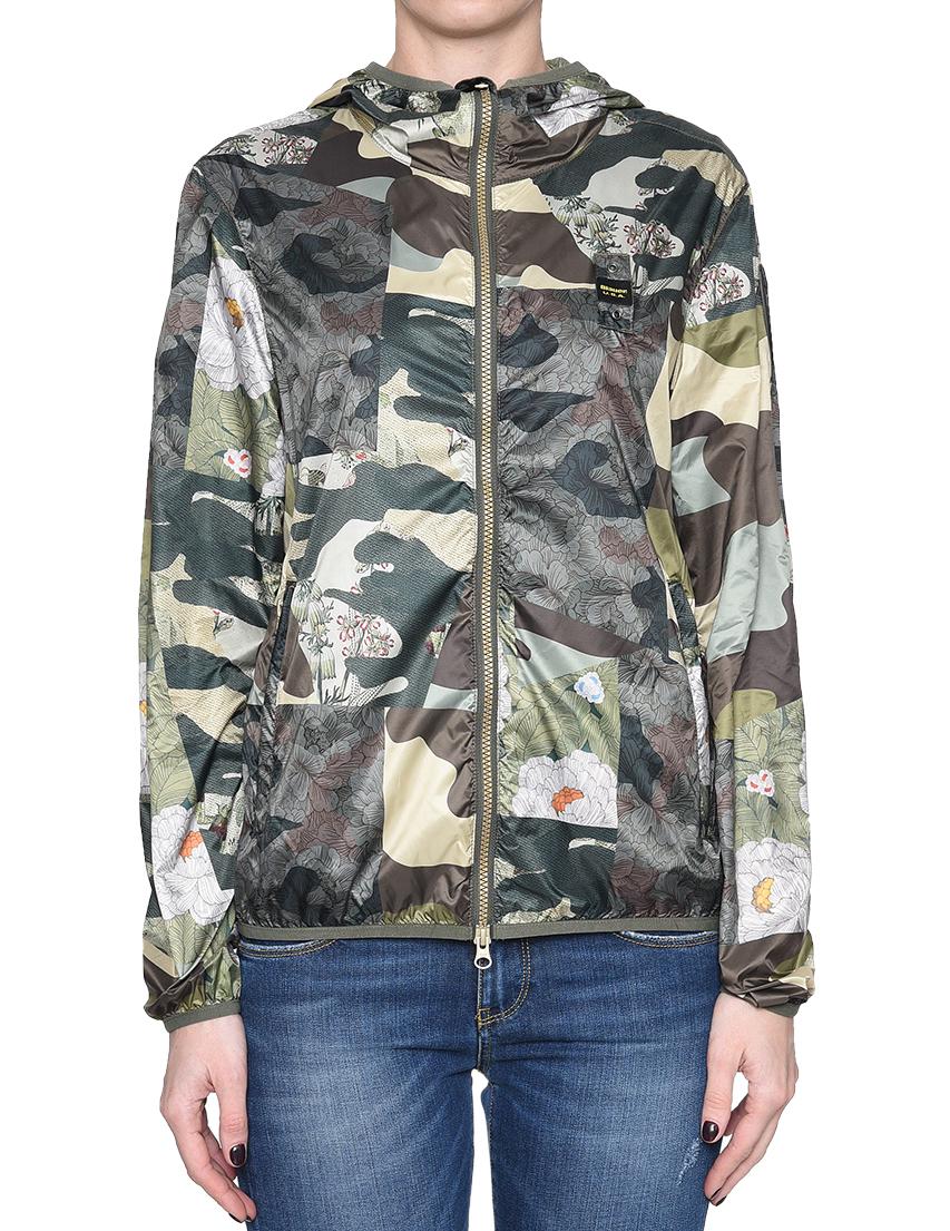 Купить Куртка, BLAUER, Зеленый, 100%Полиэстер, Весна-Лето