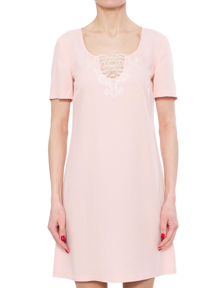 Купить Платье, PATRIZIA PEPE, Розовый, 70%Ацетат 30%Вискоза, Весна-Лето