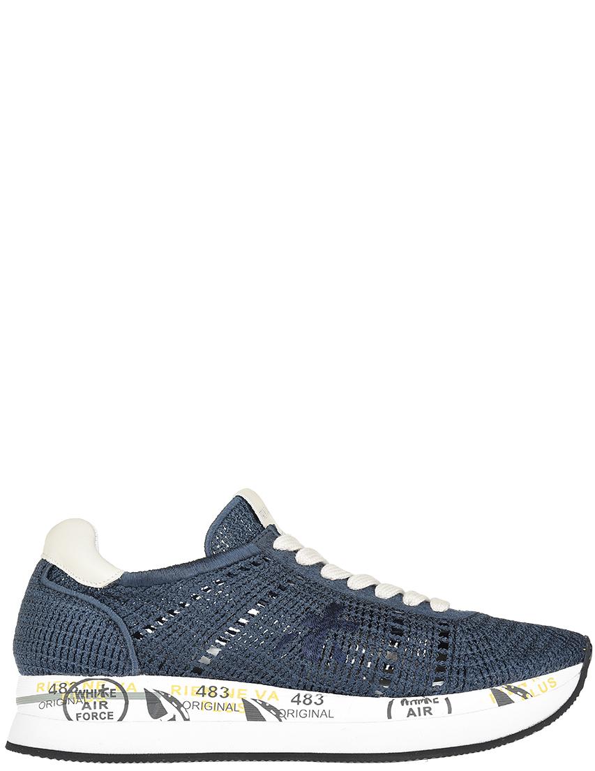 Текстильные синие кроссовки PREMIATA (ITALY)