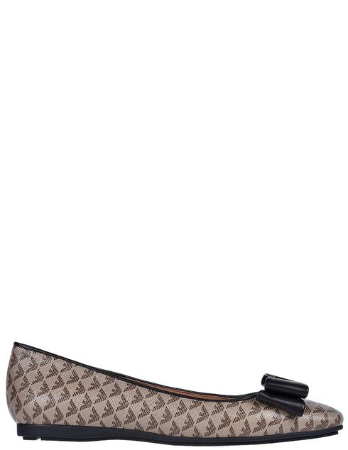 женские коричневые Балетки Emporio Armani X3D236XM069-R552 - фото-6