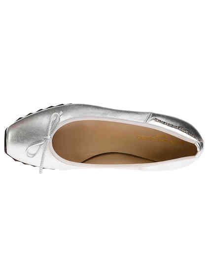 женские серебряные Балетки John Galliano 7906_silver - фото-7