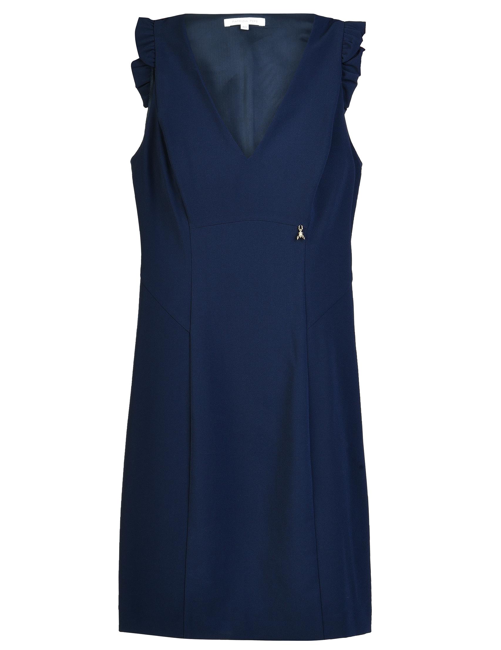 Купить Платье, PATRIZIA PEPE, Синий, 12%Эластан 88%Полиамид, Осень-Зима