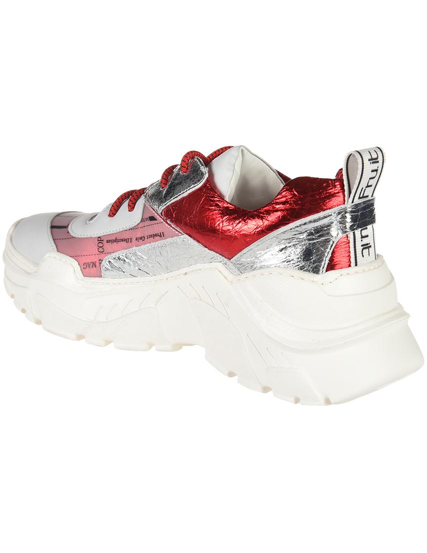 Кожаные красные кроссовки FRU.IT (ITALY)