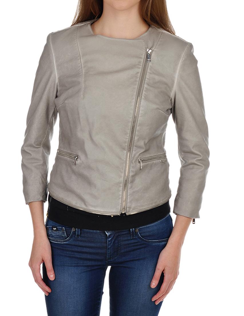 Купить Куртка, GAS, Серый, 100%Экокожа, Весна-Лето