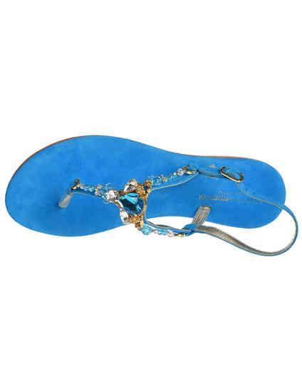 голубые Сандалии Roberto Serpentini RS9571_blue размер - 37