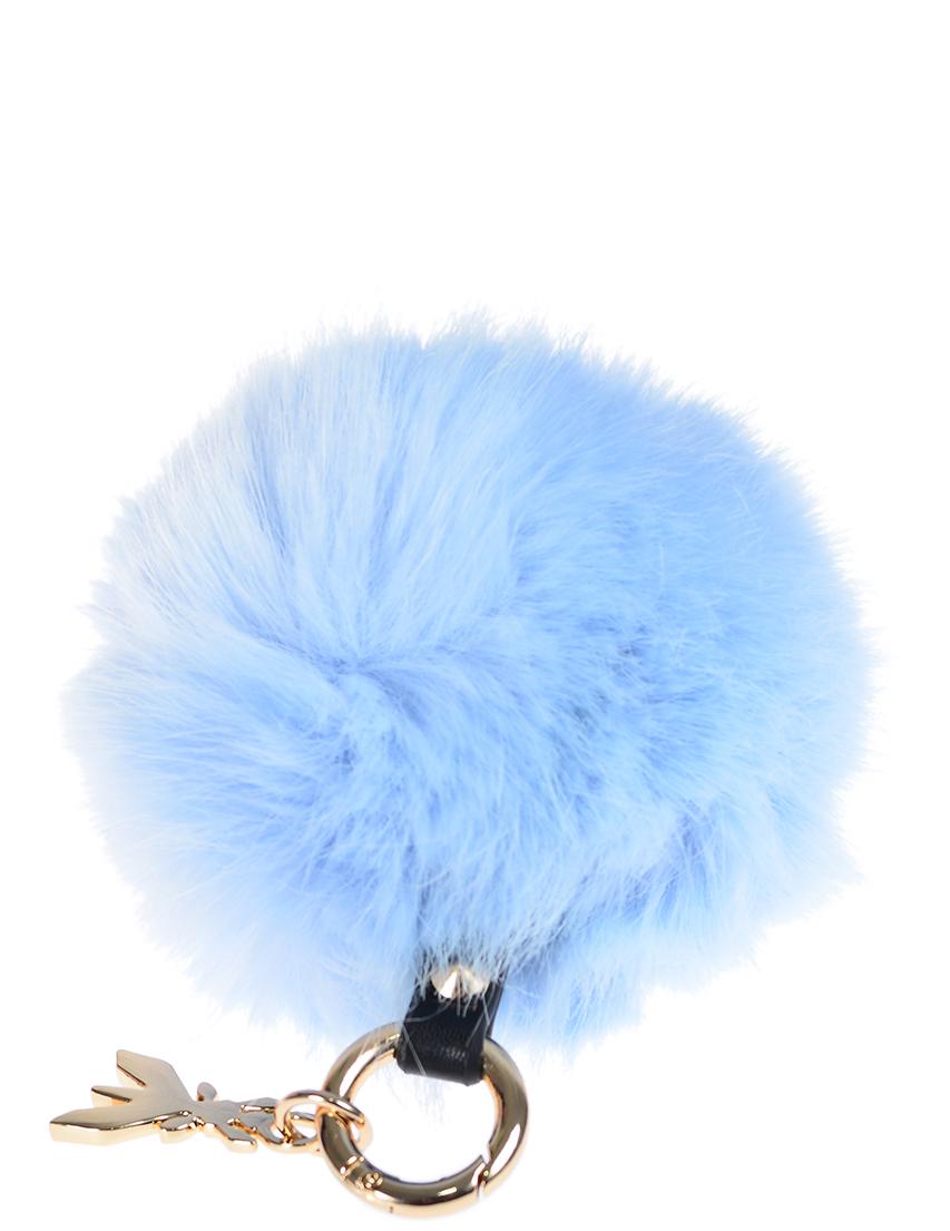 Купить Аксессуар к сумке, PATRIZIA PEPE, Голубой, 100%Мех, Осень-Зима
