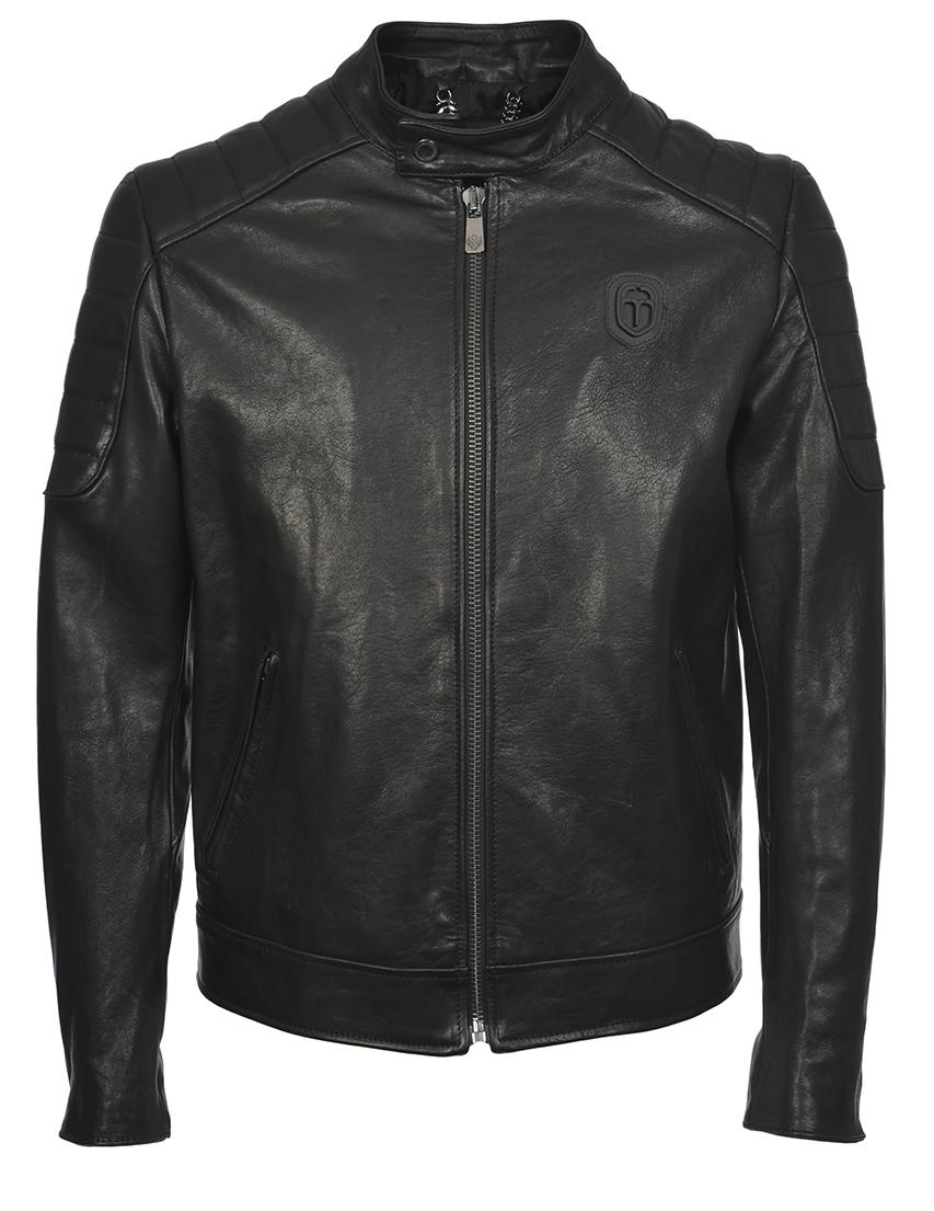 Купить Куртка, FRANKIE MORELLO, Черный, 100%Кожа;100%Вискоза, Весна-Лето