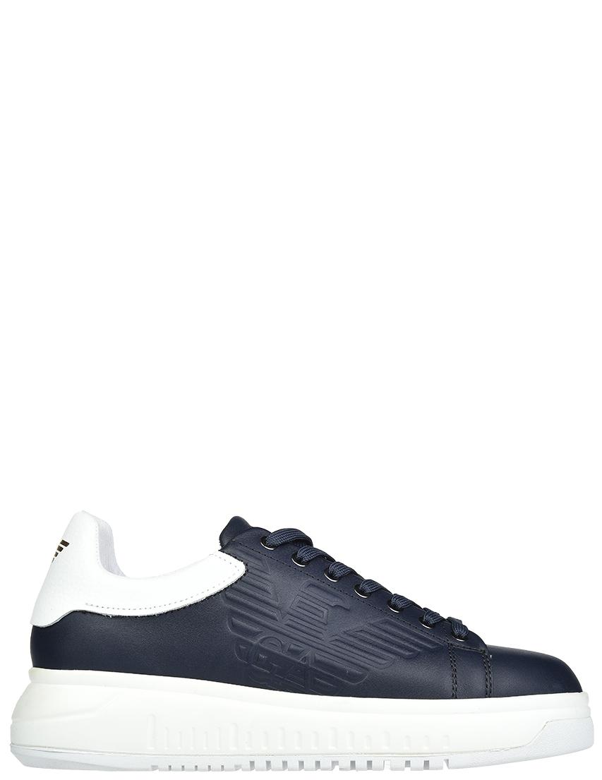 Мужские кроссовки Emporio Armani X4X1801_blue