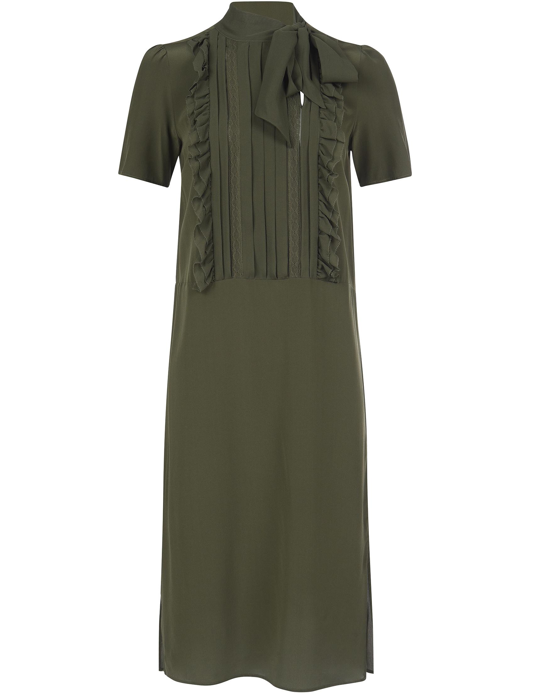 Купить Платье, TWIN-SET, Зеленый, 100%Шелк, Осень-Зима