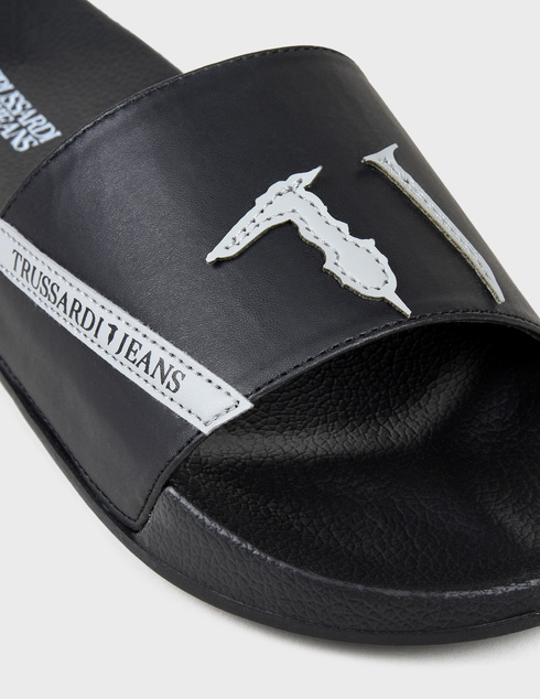 мужские черные  Шлепанцы Trussardi AGR-77A002619Y099999-K299 - фото-5