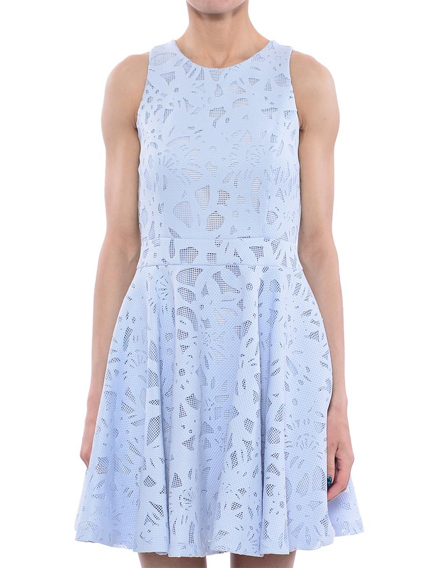 Платье, TWIN-SET, Голубой, 97%Полиэстер 3%Эластан, Весна-Лето  - купить со скидкой