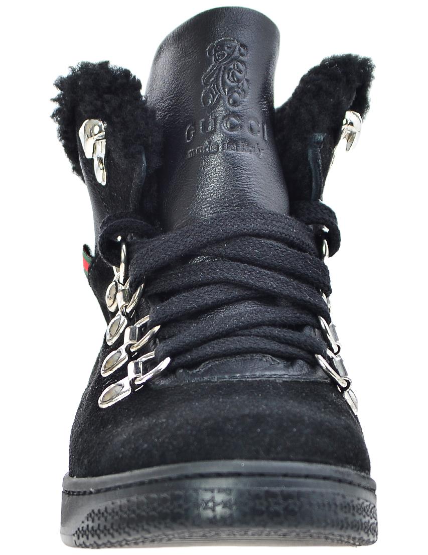 Фото 3 - Ботинки черного цвета