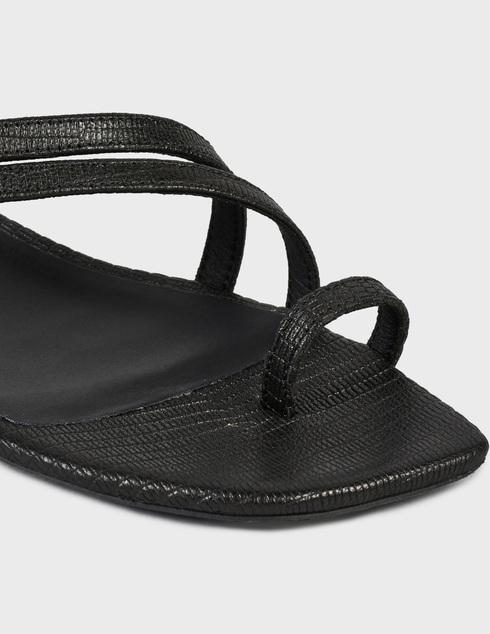 женские черные кожаные Босоножки Furla YD92FANA.0492_O6000 - фото-5