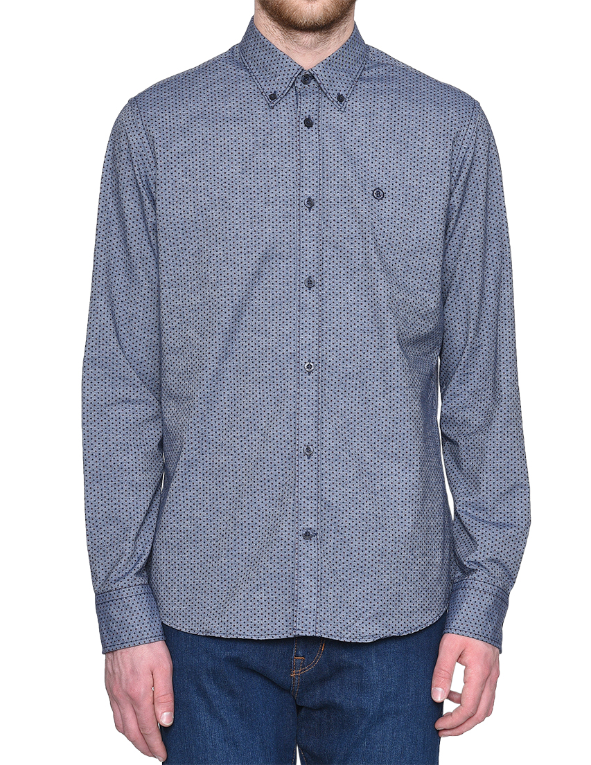 Купить Рубашки, Рубашка, BOGNER, Синий, 100%Хлопок, Весна-Лето