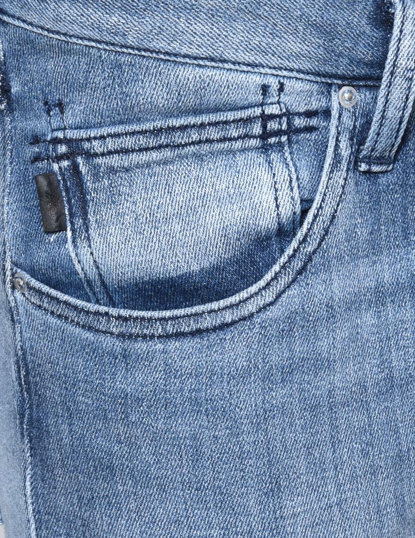 Фото 4 - мужские джинсы  голубого цвета