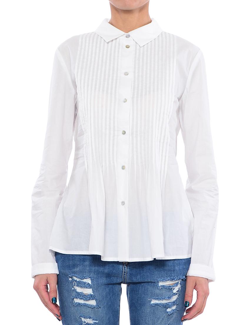 Купить Блуза, TWIN-SET, Белый, 100%Хлопок, Весна-Лето
