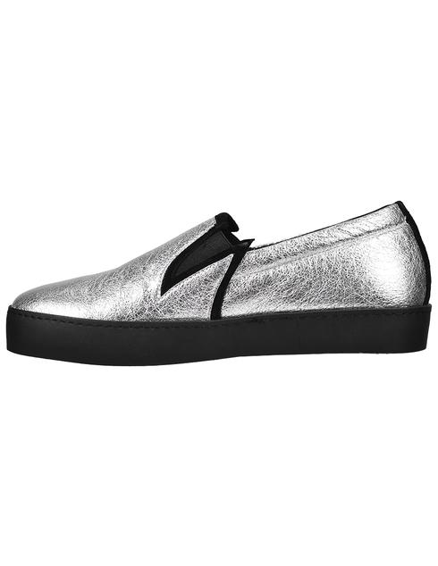 женские серебряные Слипоны John Galliano 3425C - фото-2
