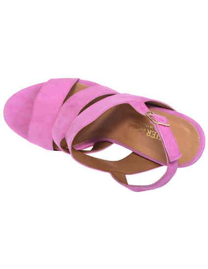 женские фиолетовые замшевые Босоножки Esther Collezioni Cris036_pink - фото-5