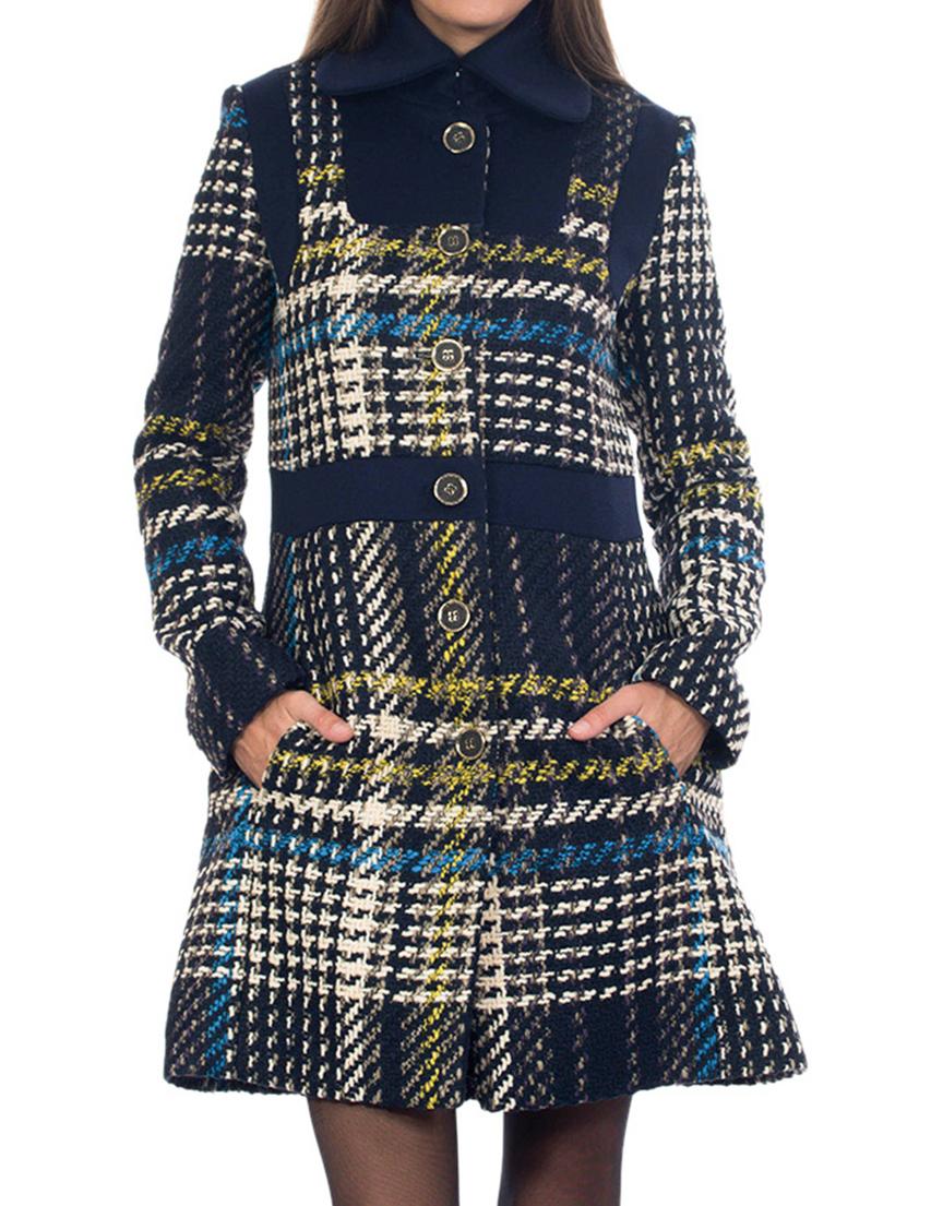 Купить Пальто, PATRIZIA PEPE, Многоцветный, 56%Акрил 25%Лана 19%Полиэстер, Осень-Зима