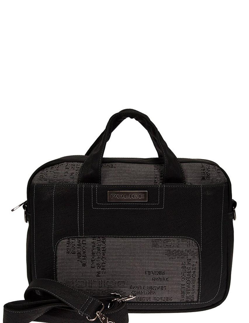 Купить Мужские сумки, Сумка, POLICE, Черный, Весна-Лето