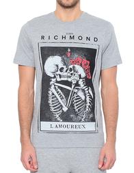 Мужская футболка JOHN RICHMOND RMP17015TS-W0066_gray