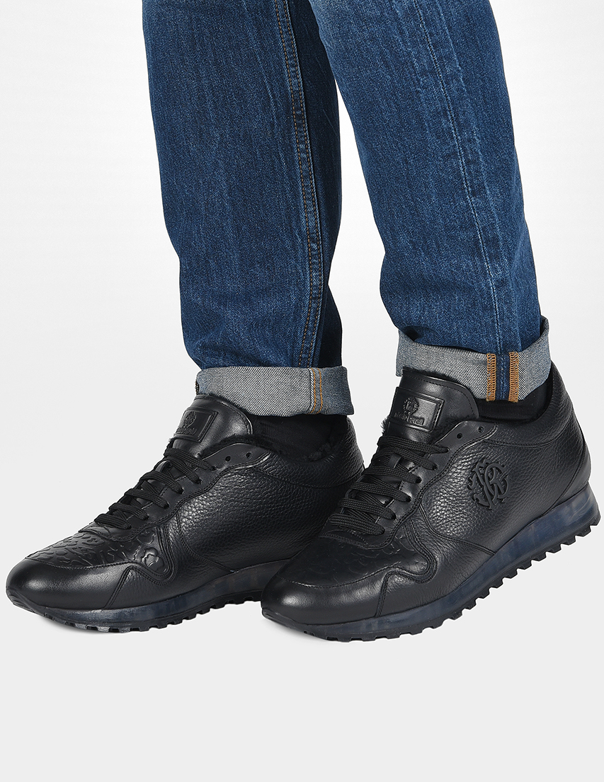 Мужские кроссовки Roberto Cavalli 5271-MC_black