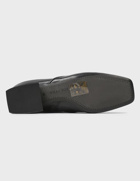 женские черные кожаные Ботинки What For FW20WF098 - фото-5