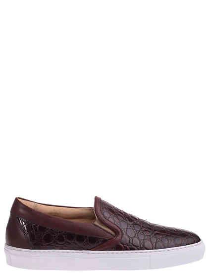 коричневые Слипоны MCM 85111_brown