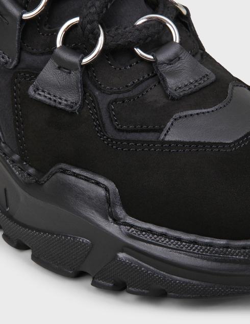 женские черные замшевые Кроссовки My Grey 028-R-black - фото-5