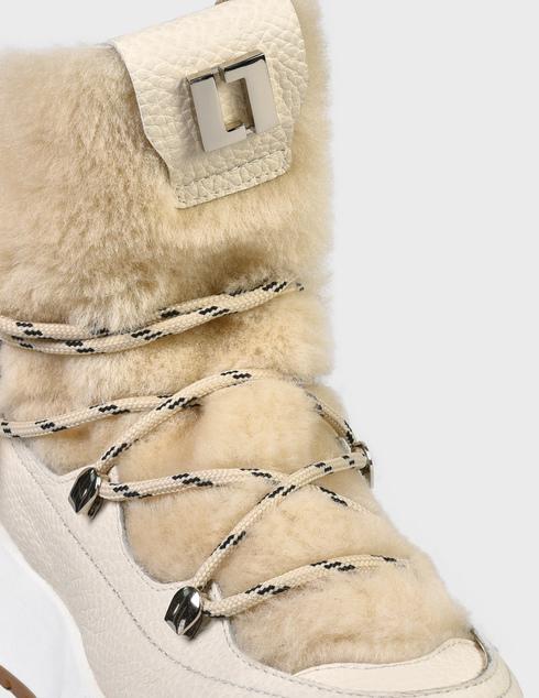 женские бежевые кожаные Ботинки Loriblu AGR-2I54620100-LATTE - фото-5