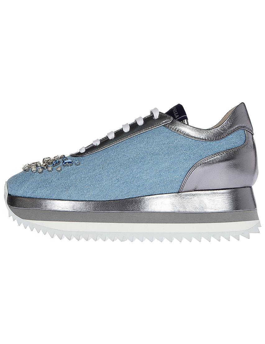Кроссовки кожаные голубые LE SILLA (ITALY)