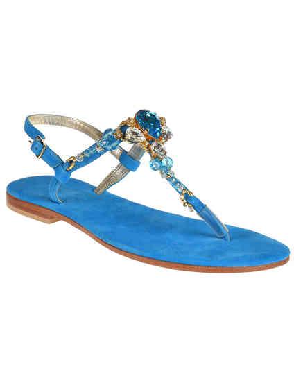 женские голубые Сандалии Roberto Serpentini RS9571_blue - фото-2