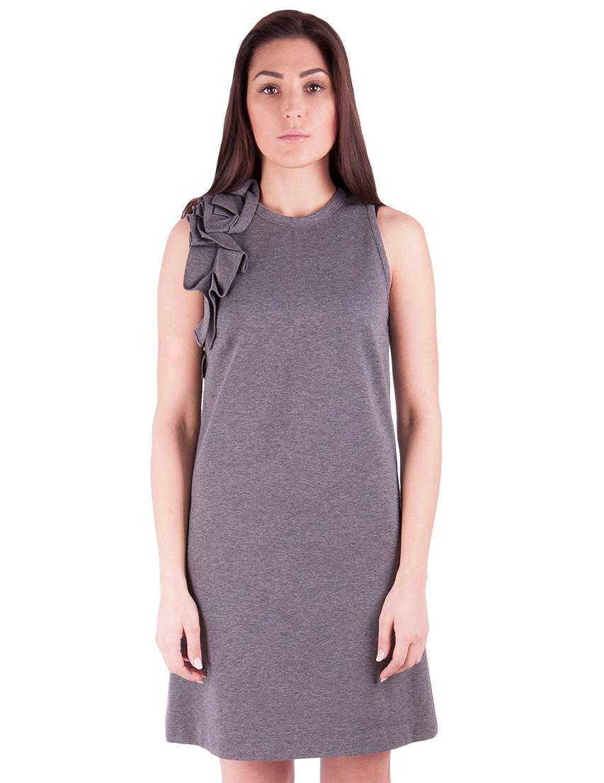 Купить Платье, BRUNELLO CUCINELLI, Серый, 84%Котон 16%Эластан, Осень-Зима