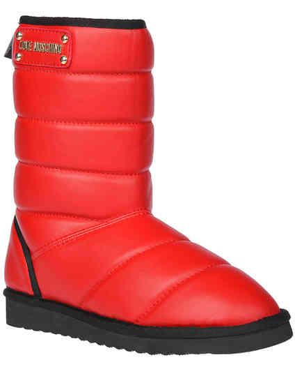 женские красные Угги Love Moschino AGR-24103_red - фото-2