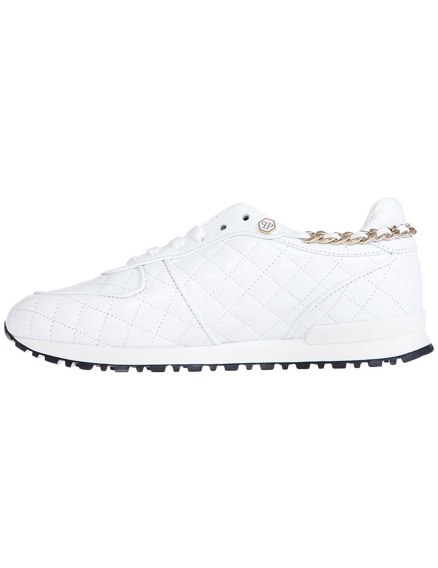 Кожаные белые кроссовки PHILIPP PLEIN (GERMANY)