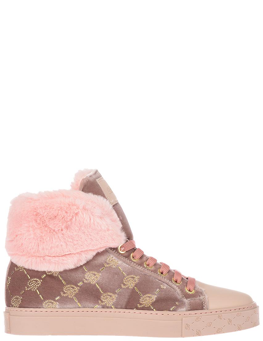 Купить Кеды, BLUMARINE, Розовый, 100%Текстиль, Осень-Зима