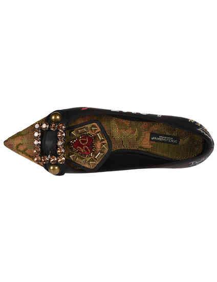 черные Балетки Dolce & Gabbana CP0099-black размер - 36.5; 37