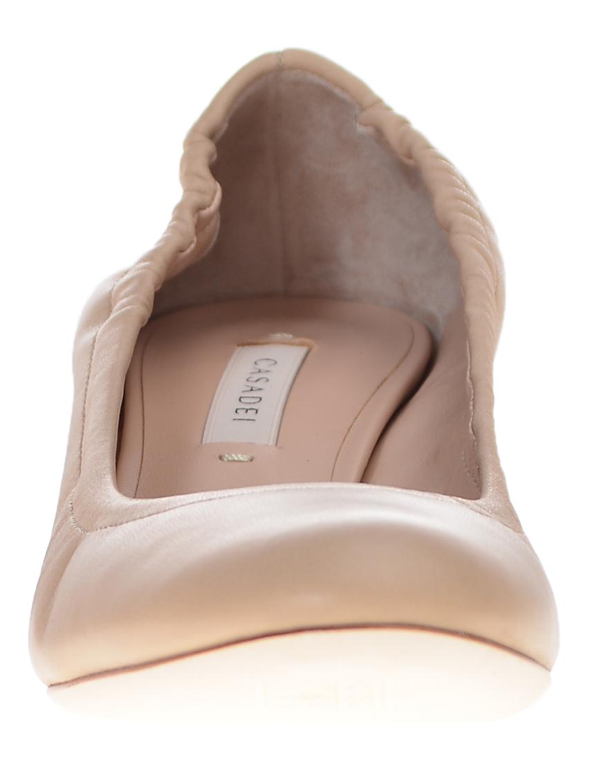Фото 4 - женские туфли  бежевого цвета
