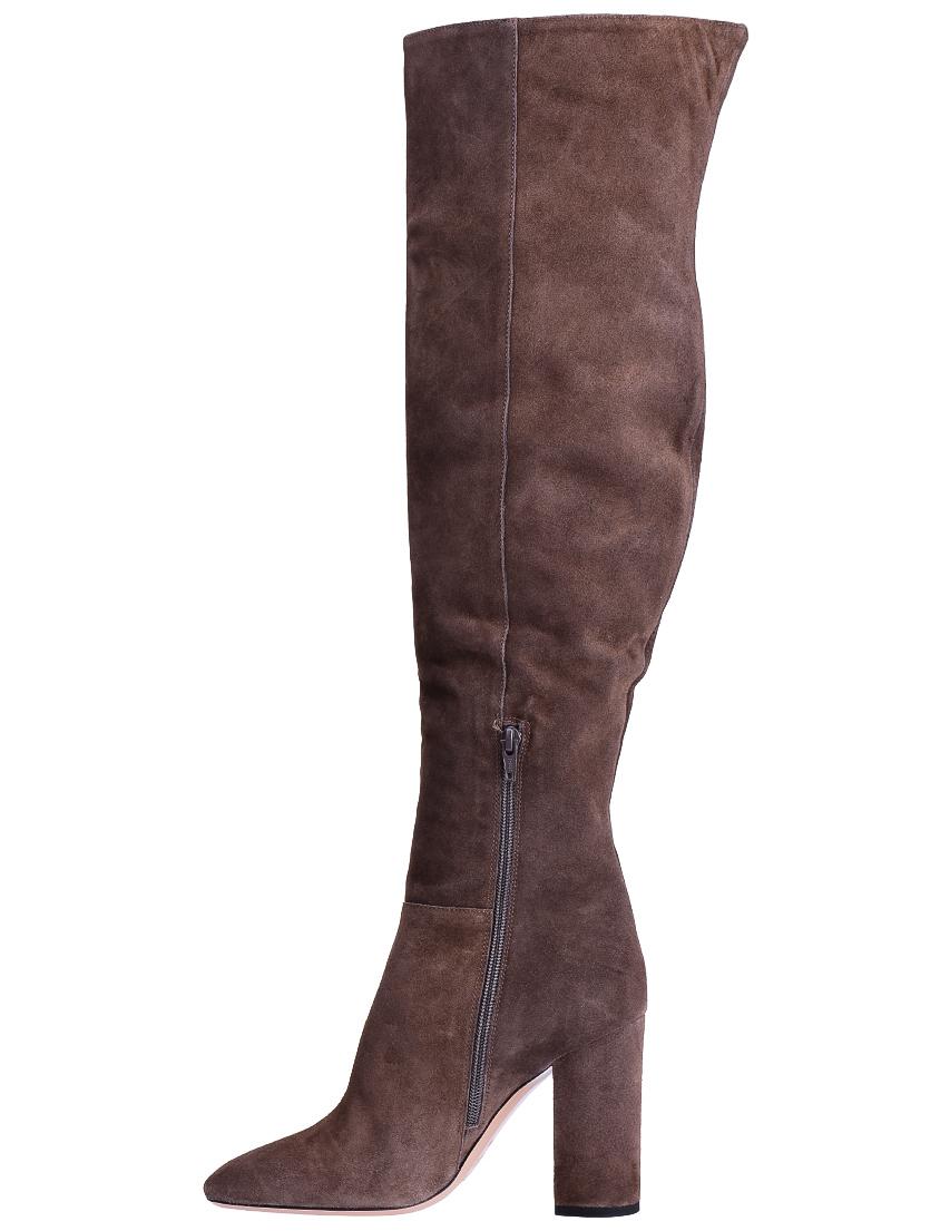 Фото 3 - женские ботфорты  коричневого цвета