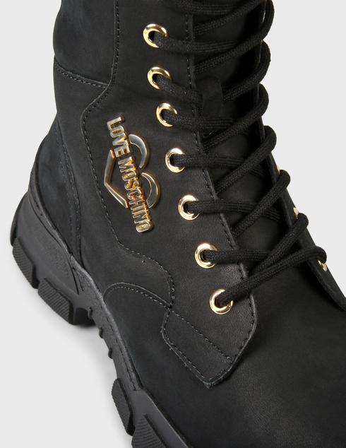 женские черные нубуковые Ботинки Love Moschino JA15654G0DIU0000 - фото-5