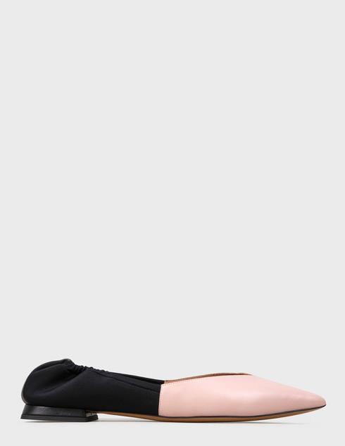 женские бежевые кожаные Балетки Emporio Armani X3D244XM338-A187 - фото-5